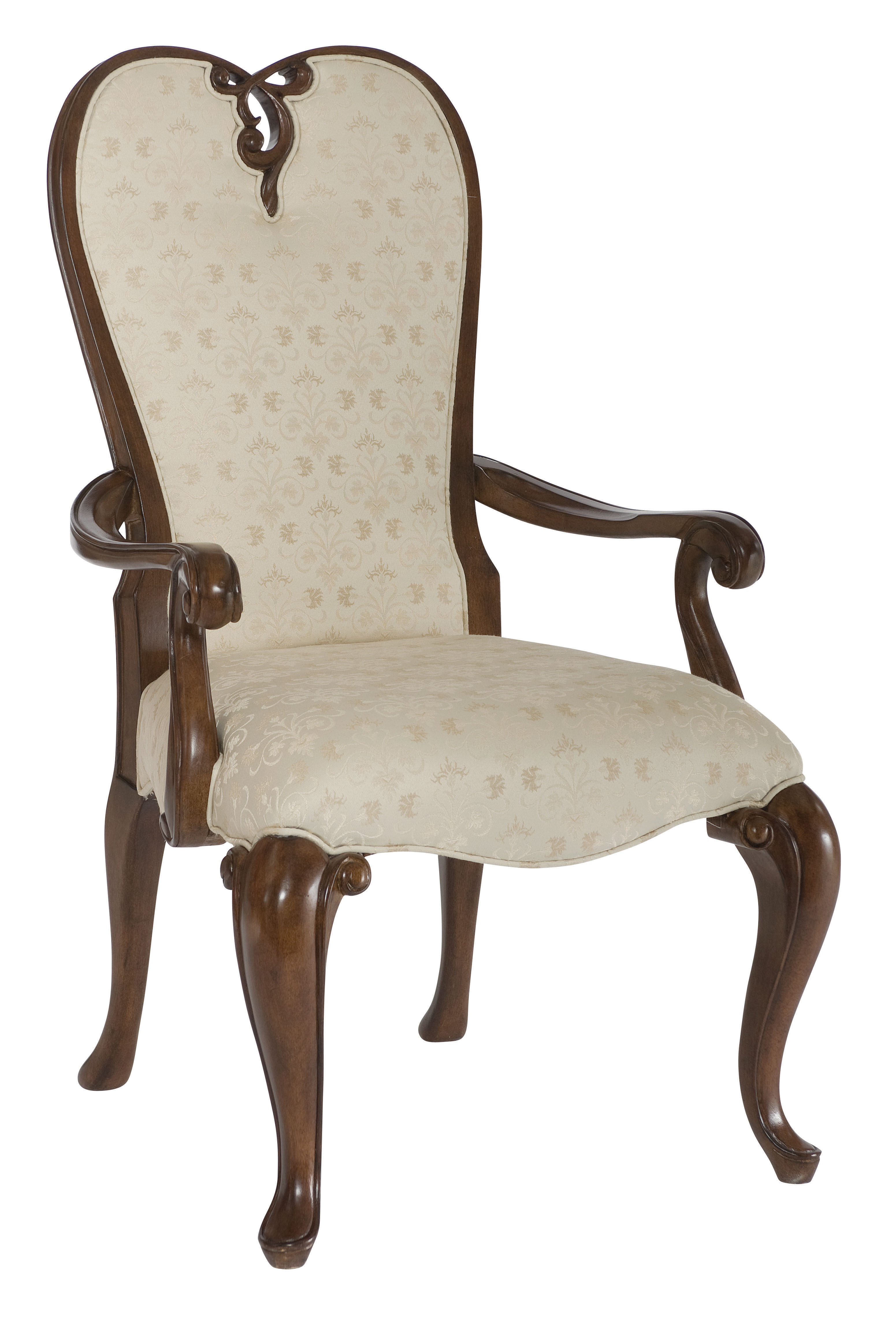 Queen Anne Upholstered Wingback Chair images