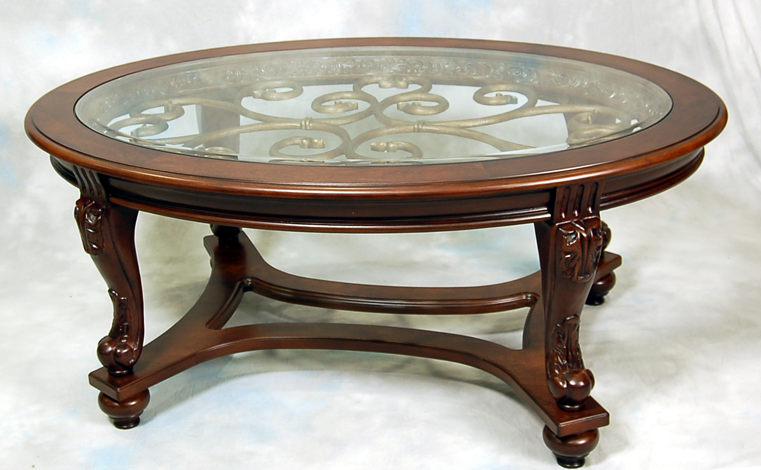 Dark brown oval coffee table ebay for Oval coffee table