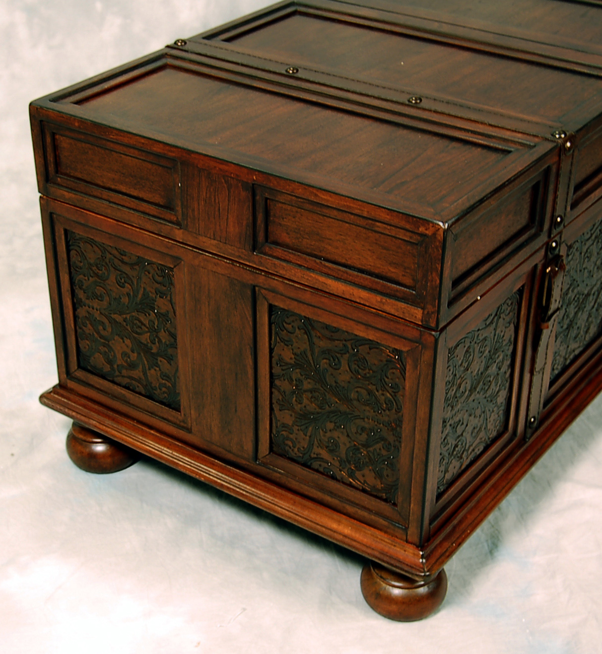 Old World McKenna Trunk Coffee End Table
