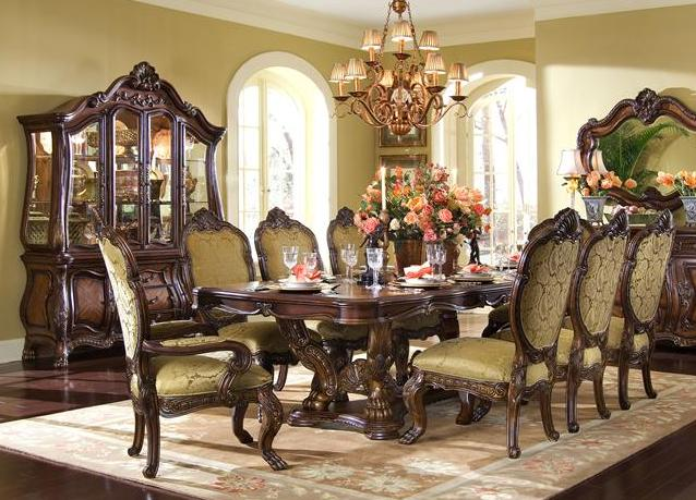 9 Piece French Rococo Dining Table And Chair Set EBay