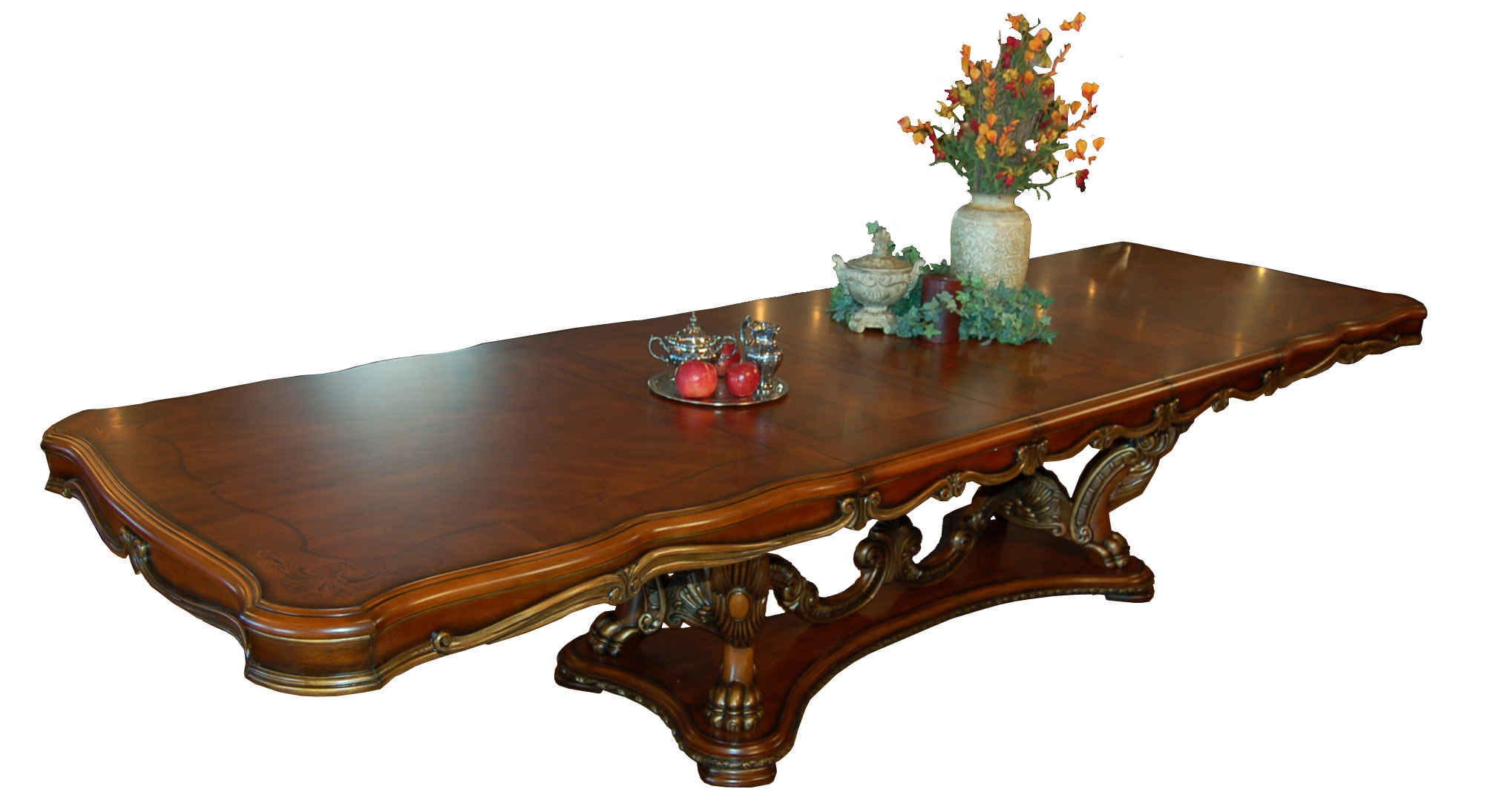 Mahogany and more dining tables ornate french rococo for Large dining room table