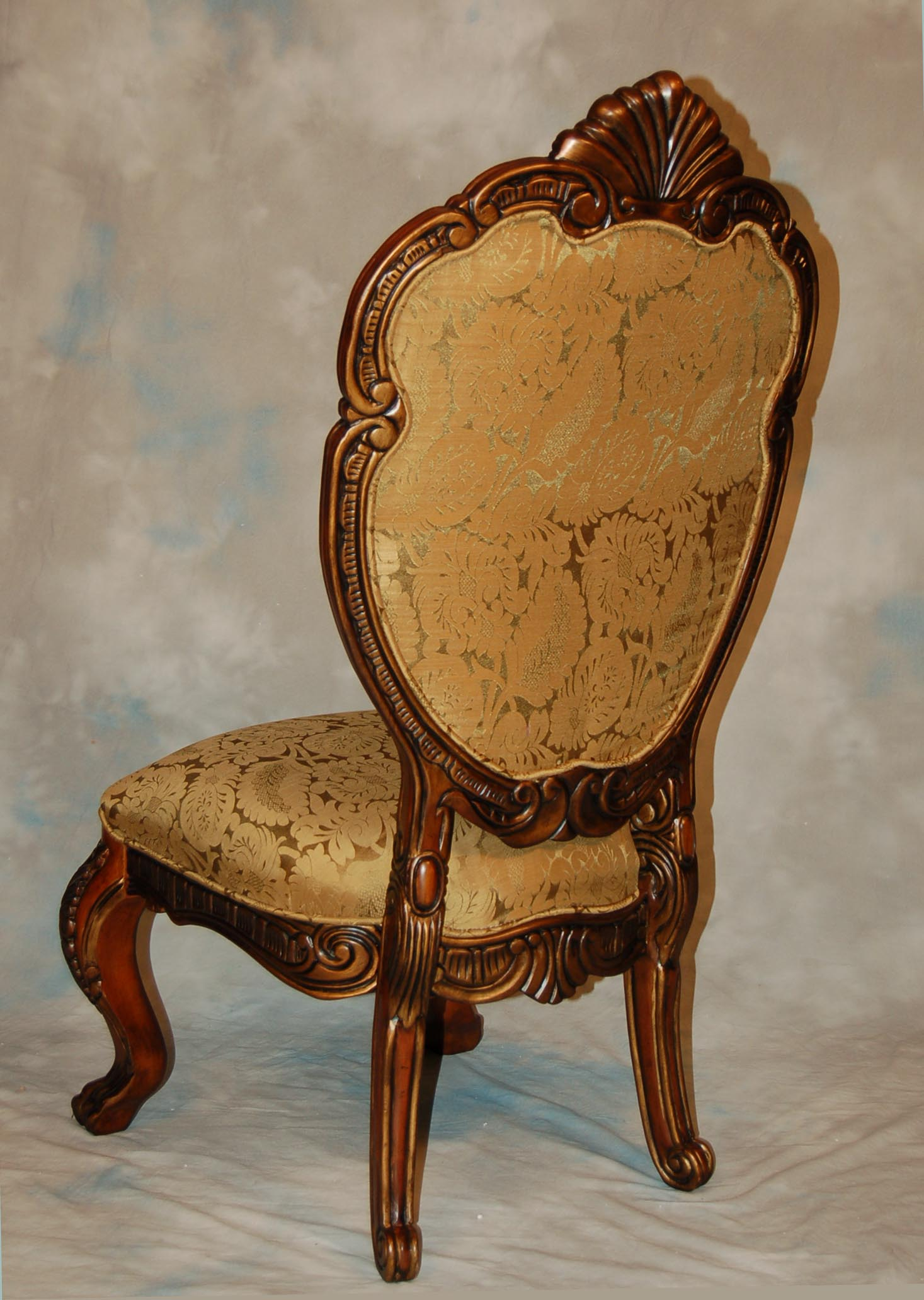Mahogany and More Dining Chairs French Rococo Upholstered Dining