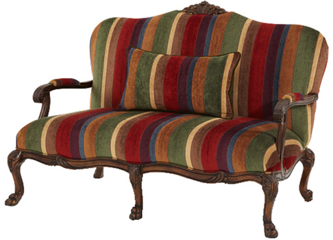 Mahogany And More Seating Castle Gates Multi Colored Settee