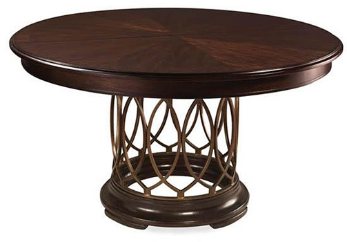 and more dining tables mystique round 56 extendable dining table