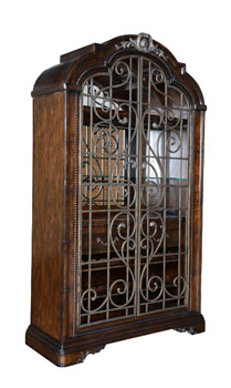 Palencia Port Wrought Iron Wine Cabinet