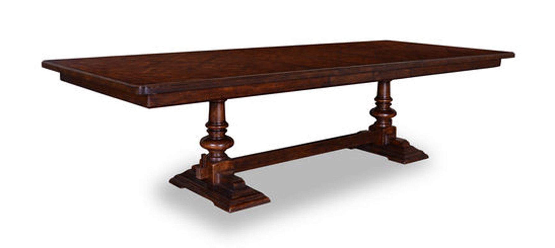 Rich walnut 116 rectangular trestle dining table ebay Trestle dining table