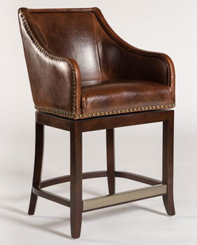 Manchester Brown Saddle Leather Counter Stool ... & Mahogany and More Counter Height - Manchester Brown Saddle Leather ... islam-shia.org