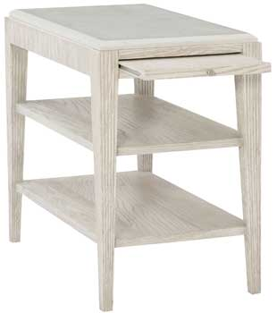 Nice Bernhardt Dove White 3 Shelf End Table ...