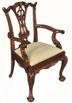Classic Chippendale Arm Chair ...  sc 1 st  Mahogany and More & Mahogany and More Dining Chairs - Classic Chippendale Arm Chair