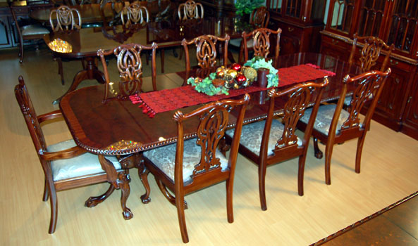 Mahogany And More Table And Chair Sets 9 Piece Mahogany