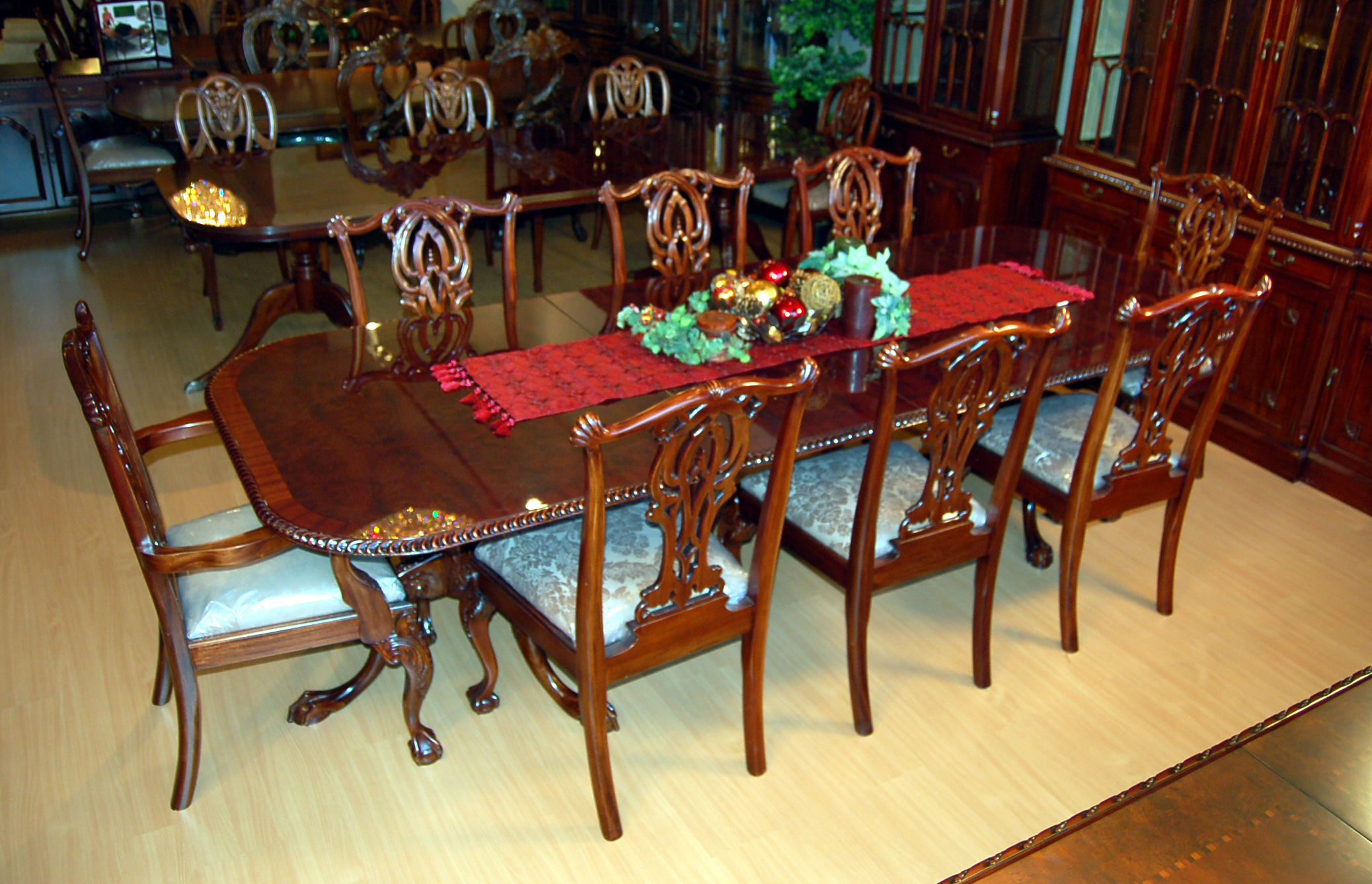 9 Piece Mahogany Chippendale Dining Set eBay : fullview1exp from ebay.com size 2076 x 1338 jpeg 1175kB