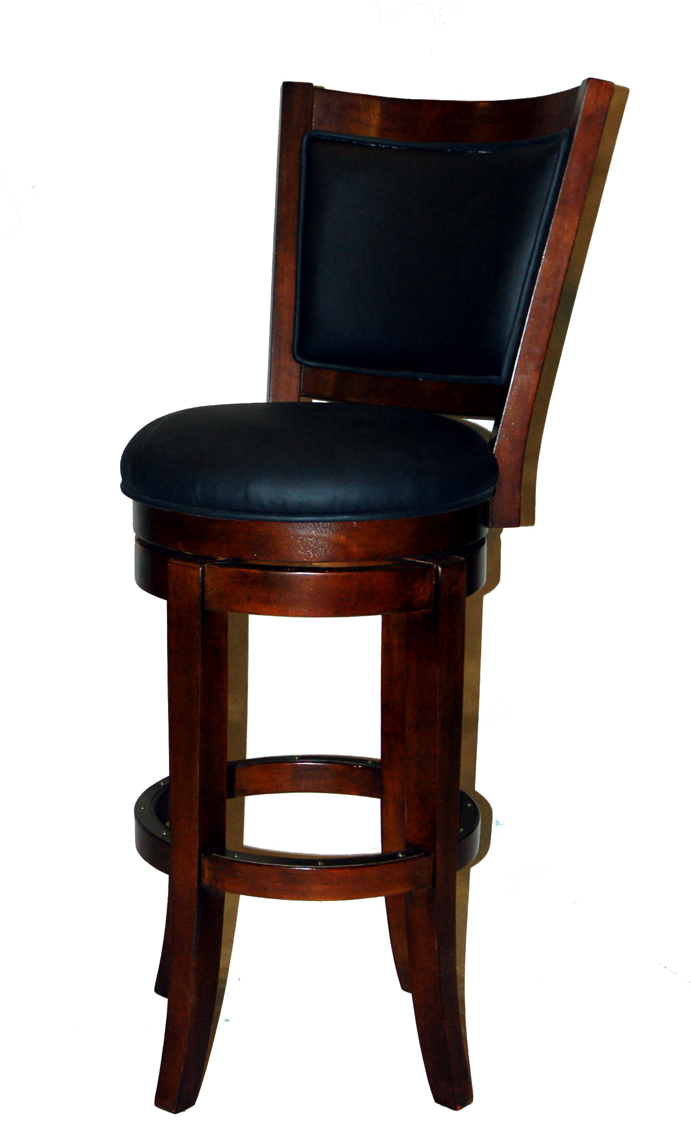 Walnut swivel bar stool made of solid birch hardwood the guinness bar