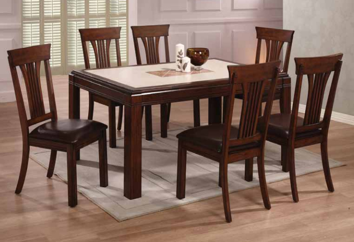 dining table set dine at ease with this 7 piece walnut  : fullview1exp from www.popscreen.com size 731 x 499 jpeg 167kB