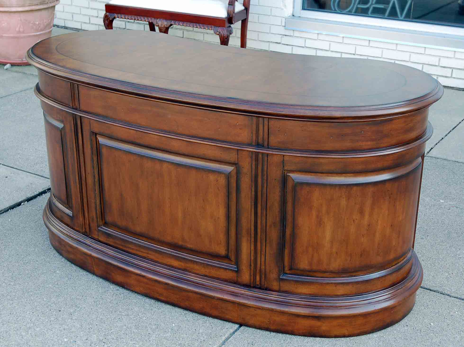 Heirloom kidney shaped office desk ebay - Kidney shaped office desk ...