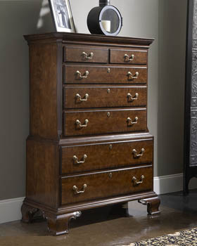 Colonial Cherry 7 Drawer Chest On Tallboy