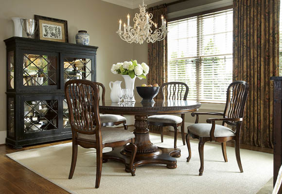 and chair sets biltmore 7 piece round balustrade dining room set