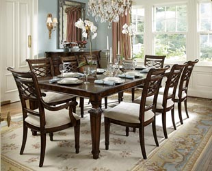 mahogany and more table and chair sets biltmore 7 piece
