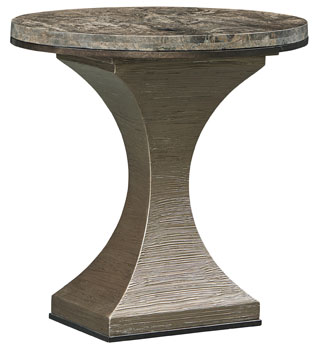 Maya Marble Top Oval End Table ...
