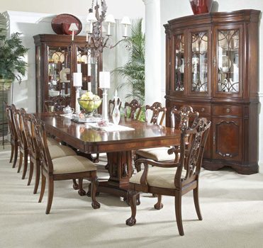 mahogany and more dining tables - heritage mahogany double