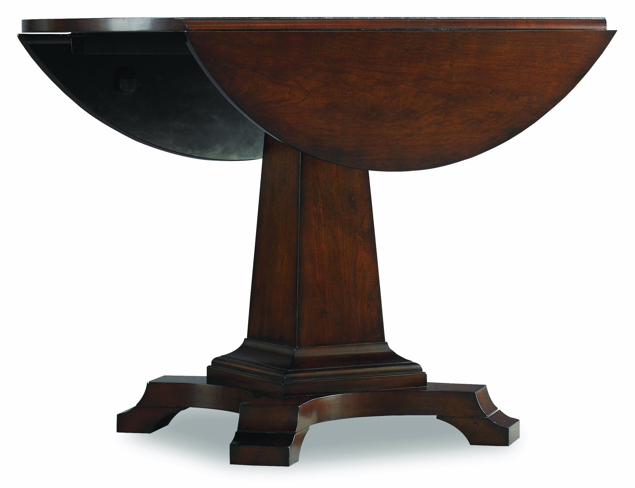 42 round dark cherry drop leaf table ebay for 42 inch round pedestal table