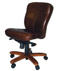 Mahogany And More Office Chairs Brown Leather Armless Desk Chair