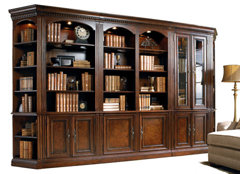 Mahogany And More Bookcases Old World Foot Walnut Library - Old book case