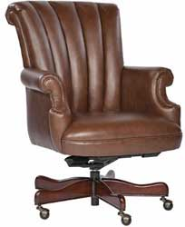 Coffee Leather Executive Office Desk Chair