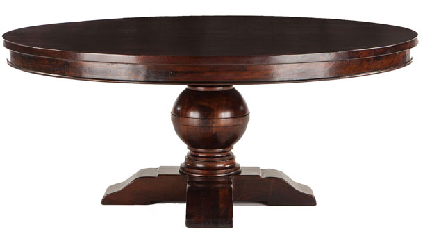 Colonial Plantation Heavy 72 Inch Round Table. Mahogany and More Dining Tables   Colonial Plantation Heavy 72