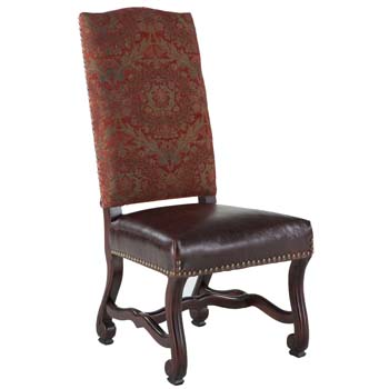 Madrid Tall Back Dining Chair With Red Tapestry ...