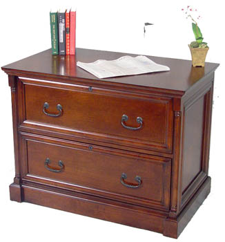 Attractive 2 Drawer Cherry Lateral File Cabinet ...