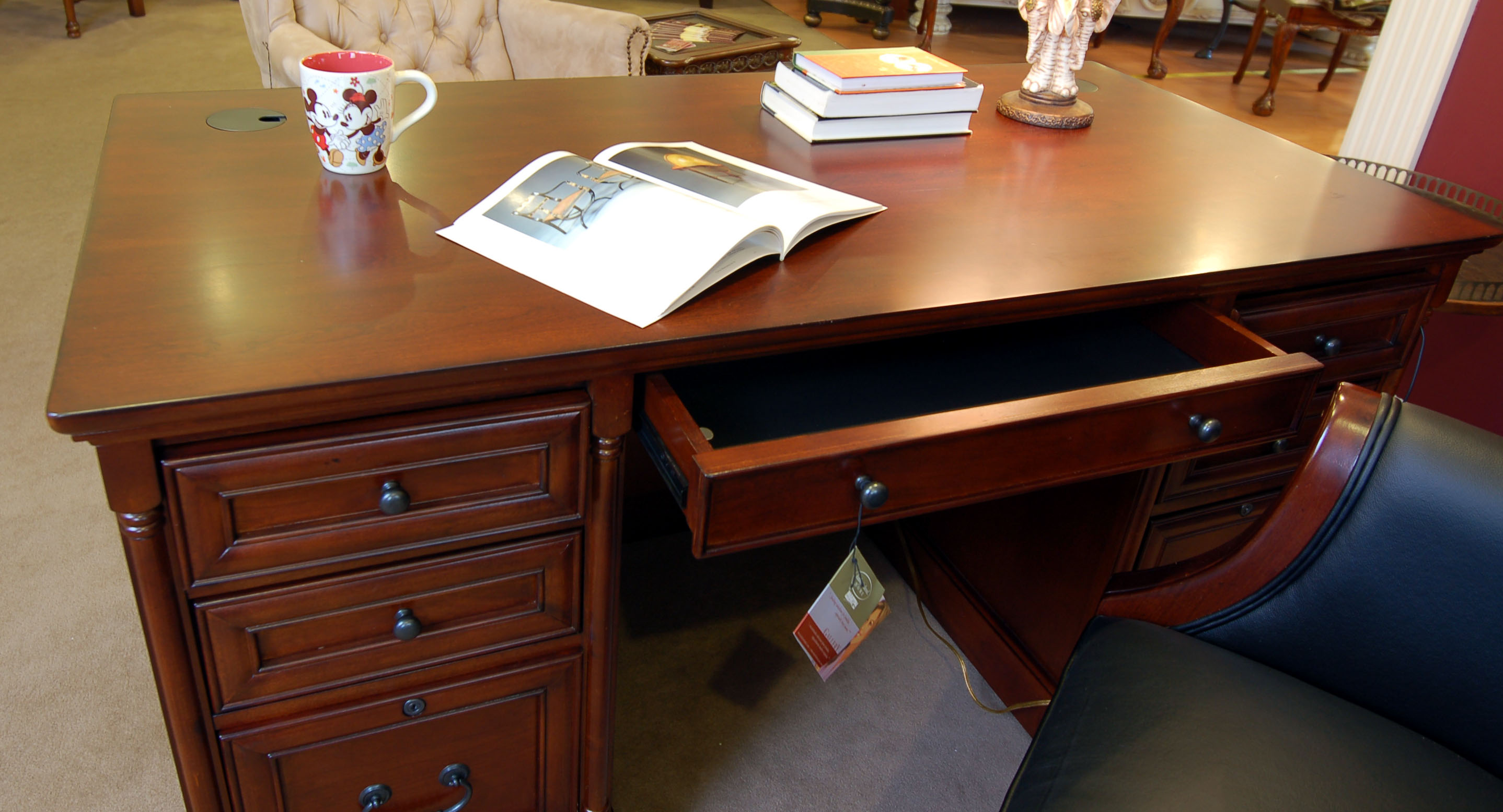 simple executive office desk cherry used and refurbished desks for
