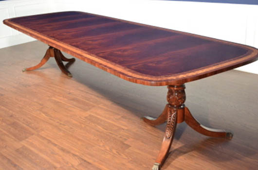 Mahogany And More Dining Tables Double Scalloped Dining