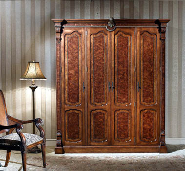 Delightful LV 851 8 English Burl Wardrobe Coat Closet ...
