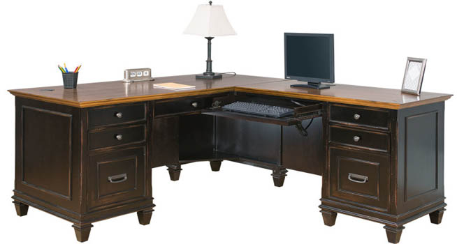 hartford home office l shaped desk imhf684r - Home Office L Shaped Desk
