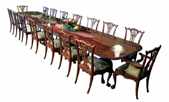 Large Chippendale Dining Set ...