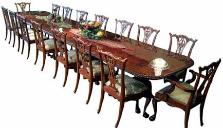 18 Ft Chippendale Dining Set