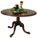 "46"" Round Burl Top Table"