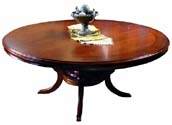 "Round 72"" Single Pedestal Dining Table"