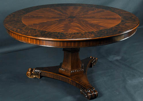 Gentil Fancy Mahogany 60 Inch Round Table ...
