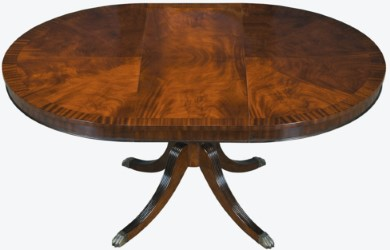 Hand Crafted Small Mahogany Round Dining Table