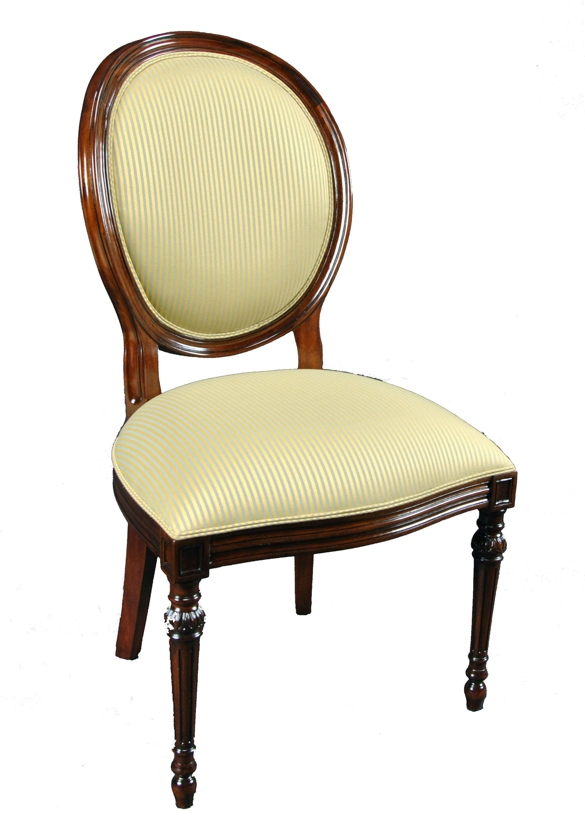 Oval back upholstered dining chair portofino oval back for White oval back dining chair