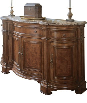 Mahogany and More Sideboards - Marble Top Dining Room Sideboard Credenza