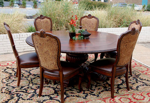 Mahogany and More Table and Chair Sets 7 Piece Old World  : fullview1 from www.mahoganyandmore.com size 511 x 350 jpeg 82kB