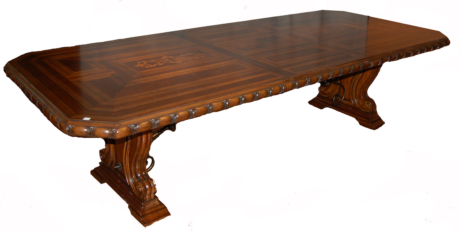 cherry 143 double pedestal dining table ebay