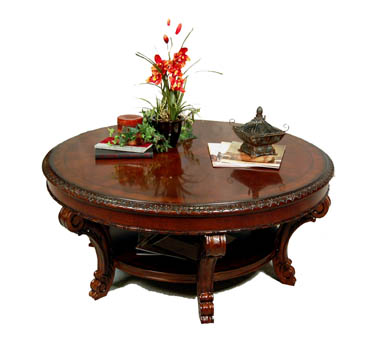 Vintage Victorian Round Coffee Table ...