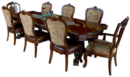 Mahogany and More Dining Tables Vintage Victorian Leg Dining Table