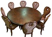 Volare Nine Piece Round Dining Set