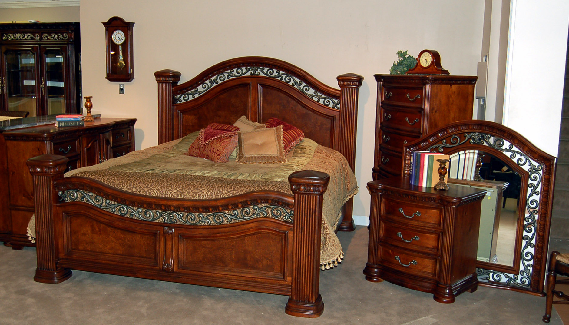 5 Piece Mansion King Size Bed Set Ebay